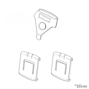 Seat rail bushings, for 1 seat, 3 pieces