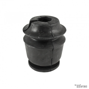 Tower rubber stop on shock absorber