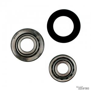 Wheel bearings, front, by wheel