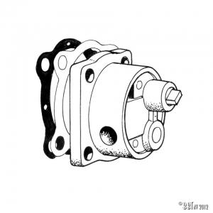 Aluminium oil pump, high volume