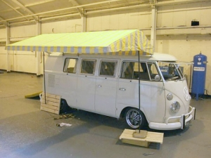 Westy tent top yellow/gray
