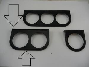 Gauge mount bracket 2 hole (52mm) , black